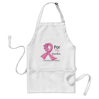 Pink Ribbon For My Grandma - Breast Cancer Adult Apron