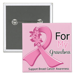 Pink Ribbon For My Grandma - Breast Cancer Buttons