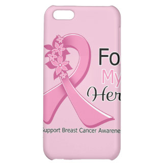 Pink Ribbon For My Hero - Breast Cancer iPhone 5C Covers