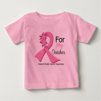 Pink Ribbon For My Teacher - Breast Cancer Shirt