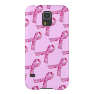 Pink Ribbon Fractal Galaxy S5 Covers
