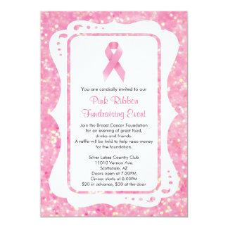 Pink Ribbon Fundraising Event Invitation