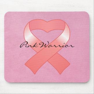 Pink Ribbon Heart Mousepad
