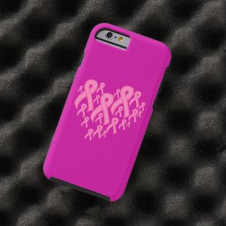 Pink Ribbon Heart Tough iPhone 6 Case