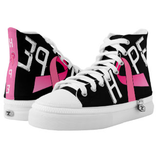 PINK RIBBON HIGH TOP ZIPZ!