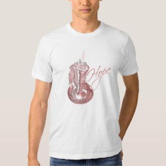 Pink Ribbon - Hope Candle T Shirt
