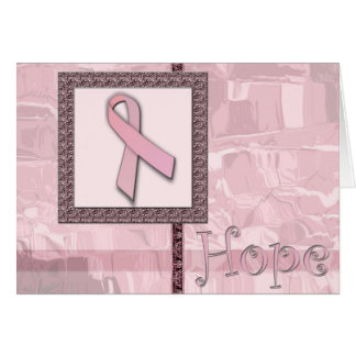 Pink Ribbon - Hope Card