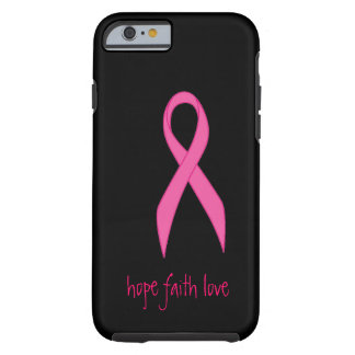 Pink Ribbon Hope Faith Love iPhone 6 case