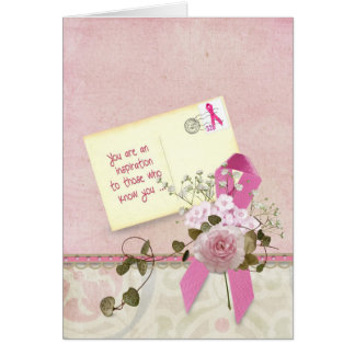 Pink Ribbon Inspirational Card