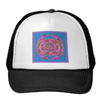 Pink RIBBON Jewelled Emblem Elegant Artistic MOM Trucker Hat