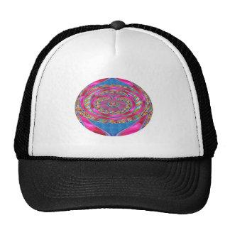 Pink RIBBON Jewelled Emblem Elegant Artistic MOM Mesh Hats