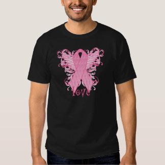 Pink Ribbon Love Wings T-shirts