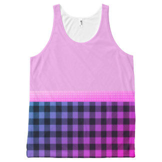 Pink-Ribbon--Miami--Plaid(c)Tank-Top All-Over-Print Tank Top
