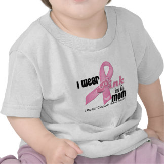 Pink Ribbon Mom Breast Cancer T Shirt