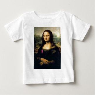 Pink Ribbon Mona Lisa Baby T-Shirt
