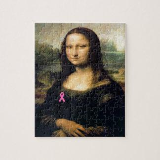 Pink Ribbon Mona Lisa Jigsaw Puzzle