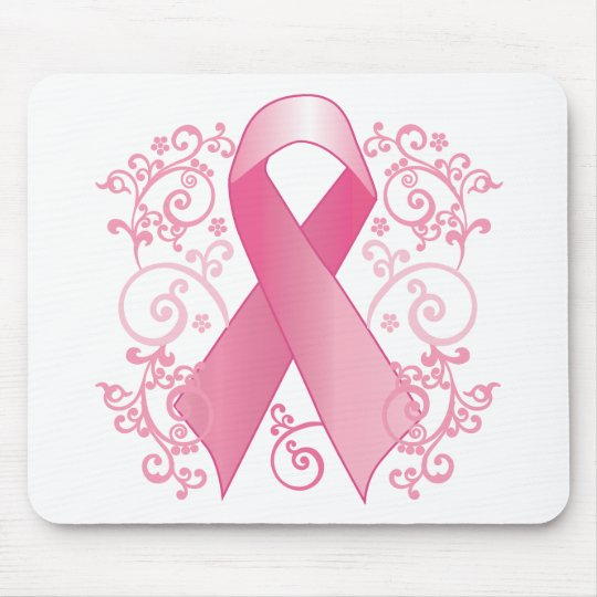 Pink Ribbon Mouse Pad
