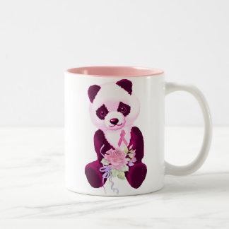 Pink Ribbon Panda Bear Coffee Mugs