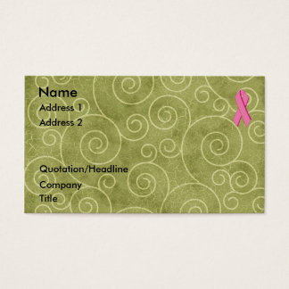 Pink Ribbon Profile Card U Customize