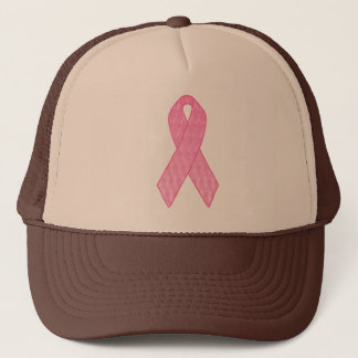 Pink Ribbon Repeating Trucker Hat