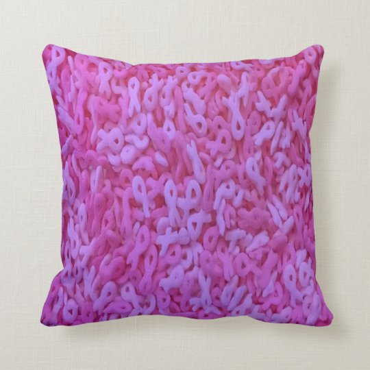 Pink Ribbon Sprinkle Pillow