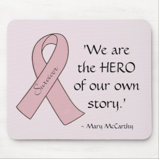 Pink Ribbon Survivor/Hero - Mousepad