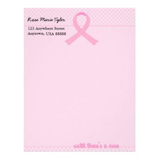 Pink Ribbon Tartan Letterhead