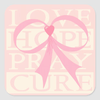 Pink Ribbon Thoughts 3 Sticker
