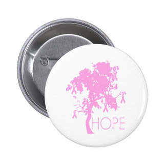Pink Ribbon Tree of Hope 2 Inch Round Button