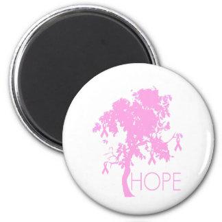 Pink Ribbon Tree of Hope Fridge Magnet