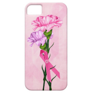 Pink Ribbons and carnations iPhone 5 Cases