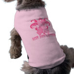 Pink Ribbons Every Day Dog T Shirt