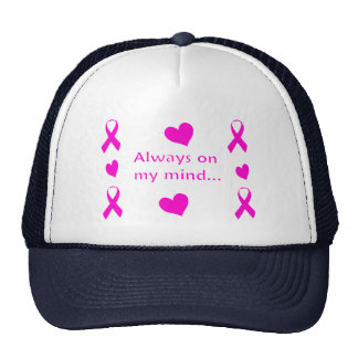 Pink Ribbons & Hearts Trucker Hat