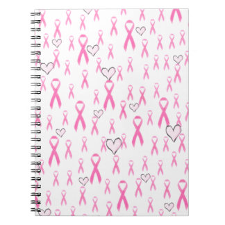 Pink Ribbons,I Care!_ Spiral Notebook