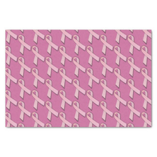 Pink Ribbons Tiled Pattern Tissue Paper