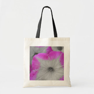 Pink Rimmed black and white petunias Tote Bag