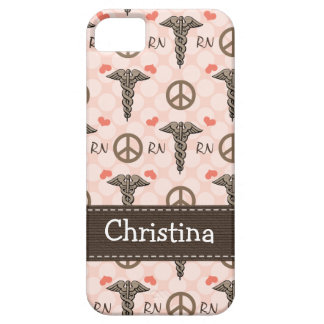 Pink RN Nurse Caduceus Case For The iPhone 5