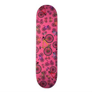 Pink road bikes skateboards