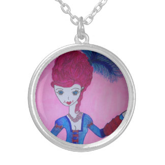 PINK ROCCO SILVER PLATED NECKLACE