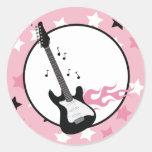 PINK ROCK STAR GUITAR Envelope Seals
