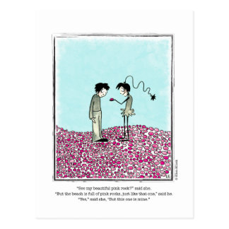 PINK ROCKS cartoon by Ellen Elliott Postcard