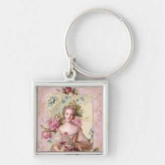Pink Rococo Keychain