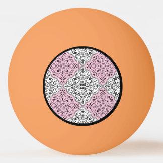 Pink Rococo Pattern Flourish Ping Pong Ball