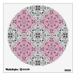 Pink Rococo Pattern Flourish Wall Decal