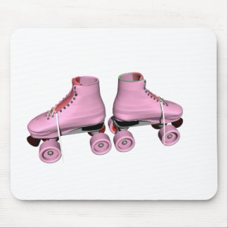 Pink Roller Skates Mouse Pad