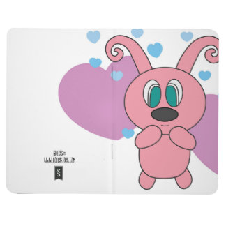 Pink Rollys Hearts Notepad Journal
