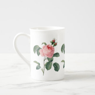Pink Rosa Centifolia by Redoute  Bone China Mug