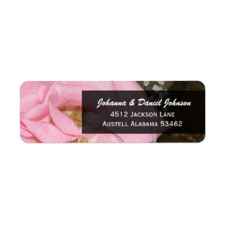 Pink Rose Address Labels