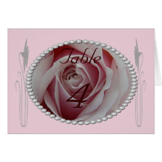 Pink Rose and Pearls Save the Date Design Greeting Card