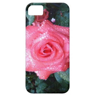 PINK ROSE AND RAINDROPS phone case